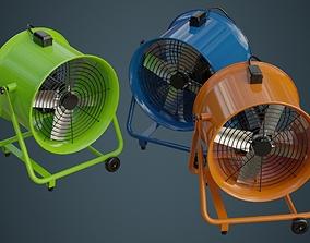 3D asset Industrial Fan 1A