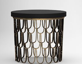 Black and Brown Coffee Table 3D model