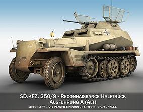 SD KFZ 250 9 - Reconnaissance Halftruck - 23 3D model