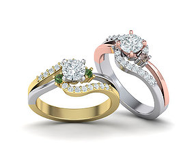 Delicate Engagement ring with 5mm centr stone