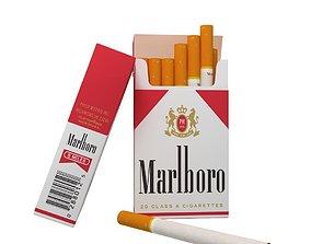 Marlboro cigarette pack v2 3D
