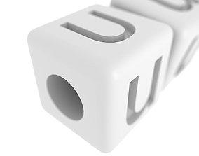 3D printable model Letters Bracelet U 0021