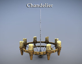 Chandelier 3D asset game-ready