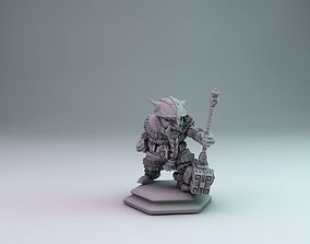dwarf warrior 3D printable model