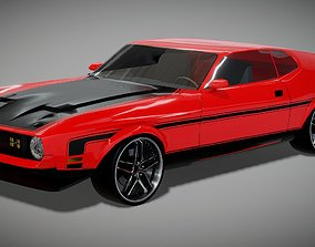 game-ready Ford Mustang Mach 1 3D Model