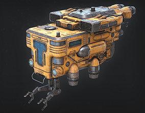 Old Junk Spaceship 3D model