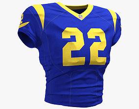 3D model LA Rams Football Player Top Uniform