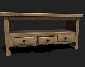 3D asset Old Drawer