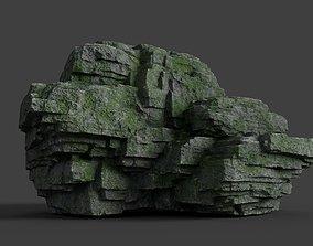 3D asset low-poly Rock 8-7