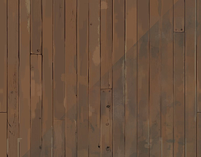 Hand painted wood planks texture 3D asset