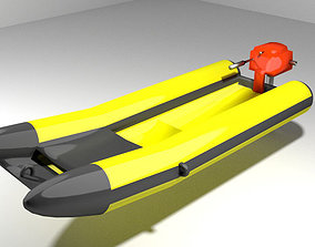 Inflatable motor boat - Type 2 3D model
