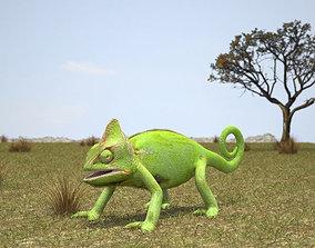 Veiled Chameleon 3D model