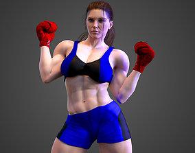 3D model Female Caucasian BOX - MMA Fighter