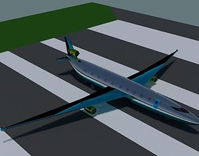 3D Plane with flight animation
