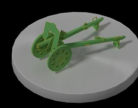 3D asset cannon howitzer