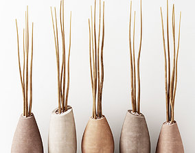 3D Vase slice pebble branch n3
