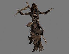 3D Grim Reaper with Scythe