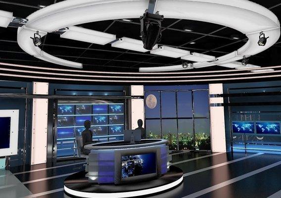 TV Virtual News Studio 027