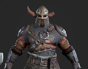 Medieval Viking Warrior Vikings barbarian 3D model