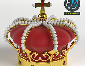 Imperial crown with orb and cross 3D model