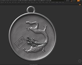 Dragon zodiac sign symbol 3d print model