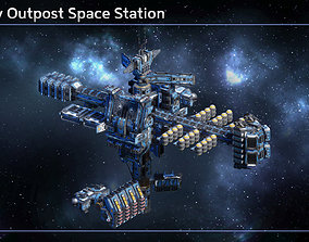 3D model Modular Military Space Station