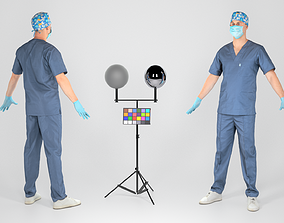 Surgical doctor male ready for animation 112 3D asset