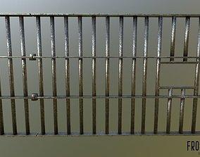 Modular Prison Bars PBR Jail Bars 3D model
