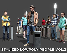 Stylized Lowpoly People Casual Pack Volume 3 3D model