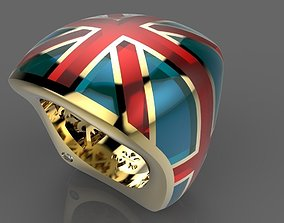 3D print model Ring Great Britain 018