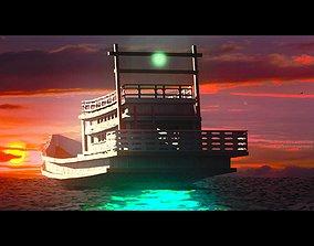 3D model boat fishing thai