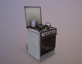 3D model Old Soviet Russia Cooker