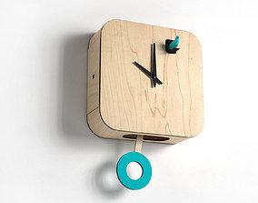 B83Box Cuckoo Clock with Pendulum 3D