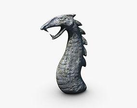 3D asset Low poly serpent stone
