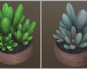 3D model Flower with 4 different texture variations
