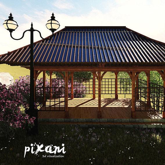 Chinese Concept Pergola Design