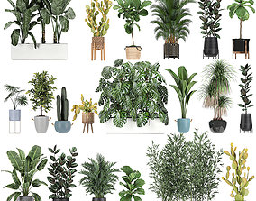 3D Collection of plants of 20 pieces SET