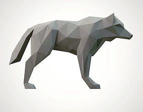 lowpoly wolf 3D print model