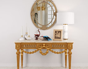 3D Louis XVI Console in Giltwood