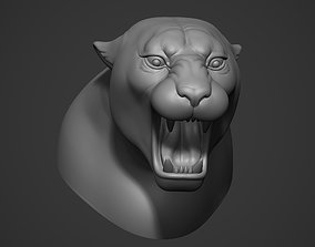 Jaguar Ferocious Expression 3D print model