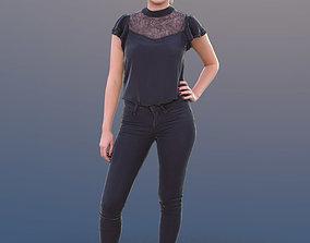 3D asset Elena 10496 - Standing Casual Girl