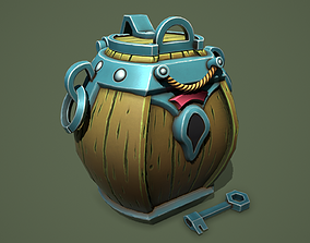 3D asset Barrel chest