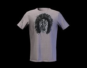 Male t-shirt low poly game ready 3dshirt low-poly 2