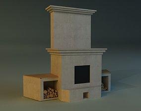3D chimney Fireplace