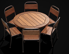 3D model Table and Chair 02