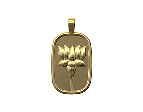 3D print model Lotus flower relief pendant and charm