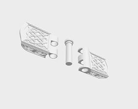 Bracelet lock paracord lock 3D model