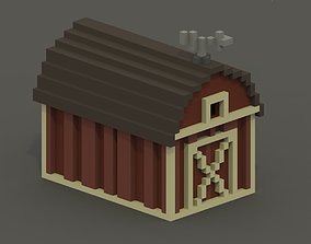 VR / AR ready Barn Voxel Model