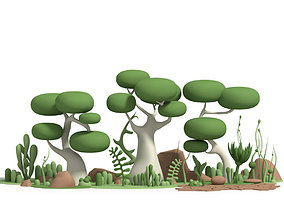 Toon Nature 3D asset