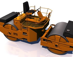 Compactor 3D model game-ready